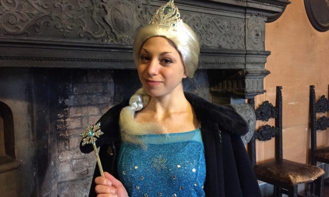 Fontanellato diventa il castello di ghiaccio con la regina più amata dai bambini