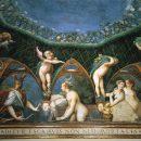 Affresco del Parmigianino in Rocca Sanvitale - Fontanellato (Parma)